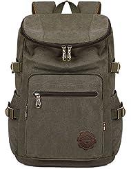 BEFAiR Canvas College Laptop Backpack Unisex Vintage Medium Bookbag Rucksack Backpack