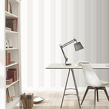 Rasch Vertikalen Streifen Muster Tapete Modern Texturiert  Zwei Ton Gestaltung   286632 Silber Weiß