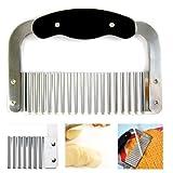 Crinkle Cutter Slicer Wavy Potato Dough Vegetable Blade Knife Stainless Steel !!