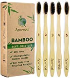sprmal natural bamboo toothbrush-pack of 5,individually numbered,eco-friendly、organic、biodegradable