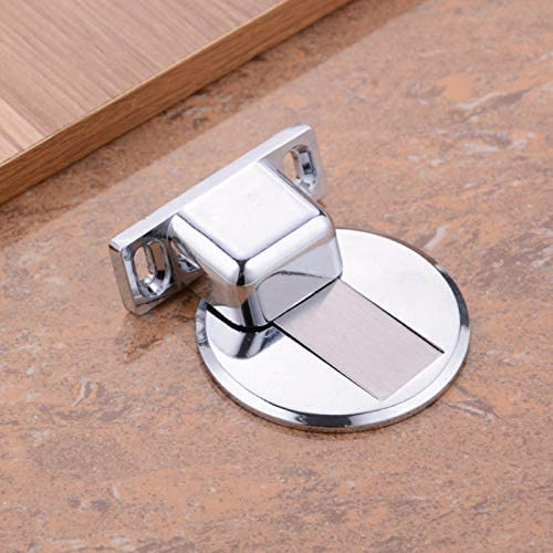 Door Catch Stainless Steel Gizayen Door Stopper Suction Door Stops Invisible Anti-Collision Punch Zinc Alloy Magnetic for Home