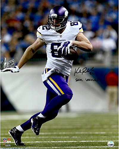 kyle-rudolph-minnesota-vikings-autographed-16-x-20-white-running-photograph-with-skol-vikings-inscri