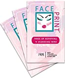 Face Print -New- Premium Makeup Removing Wipes 20 Individual Packs -Special Introductory Pricing