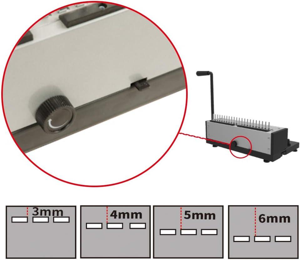 Rayson Stanz /& Bindemaschine sd-1201/Punch 12/Blatt /& Binden 200/Blatt