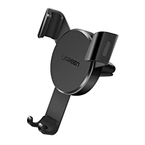 UGREEN Car Air Vent Mount Cell Phone Holder Gravity Compatible for iPhone 11 Pro Max Xs Max XR X 6S 7 Plus 8 6, Samsung Galaxy S9 S7 Edge S8 S10 S6, Google Pixel 2 XL, LG G6 Smartphone (Black)