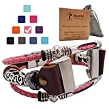 Smatiful Charge 3 Cute Bands with Box Sets for Youth Ladies, Adjustable Accessory Band Ring with Metal Connector for Fitbit Charge 3 Heart Rate Monitor, Rose Gray Pink