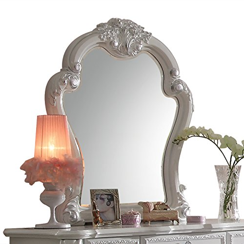 ACME Furniture 30669 Dresden Mirror, Antique White (Ornamental Mirrors)