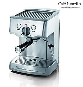 Espressione-DeLonghi of Italy 1324 Cafe Minuetto Professional Die-Cast Espresso/Cappuccino Maker, Silver