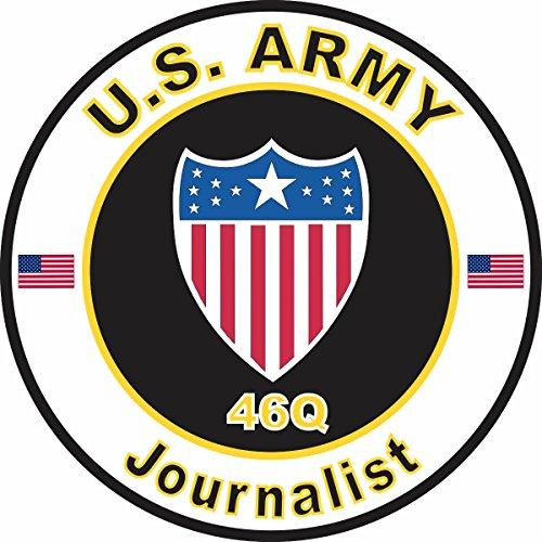 Military Vet Shop U.S. Army MOS 46Q Journalist Window Bumper Sticker Decal 3.8