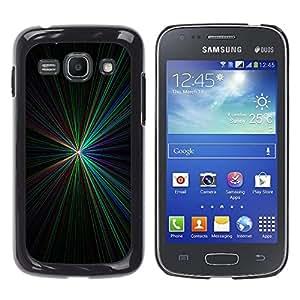 Meeting Center Point De Colores aligeramiento - Metal de aluminio y de plástico duro Caja del teléfono - Negro - Samsung Galaxy Ace 3