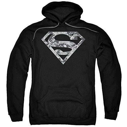 Superman DC Comics Urban Camo Shield Adult Pull-Over Hoodie