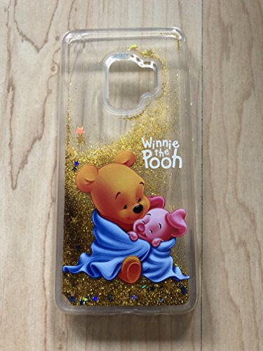 (Galaxy S9 Plus Case, Winnie The Pooh Sparkle Liquid Glitter Quicksand Case For Samsung Galaxy S9 Plus - Ship From NY# 2)