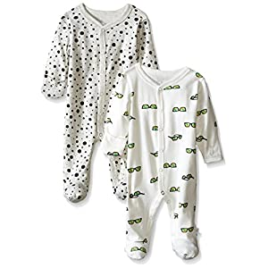 Rosie Pope Baby 2-Pack Desert Adventure Dots and Sunglasses Coveralls, Gray, 3-6 Months