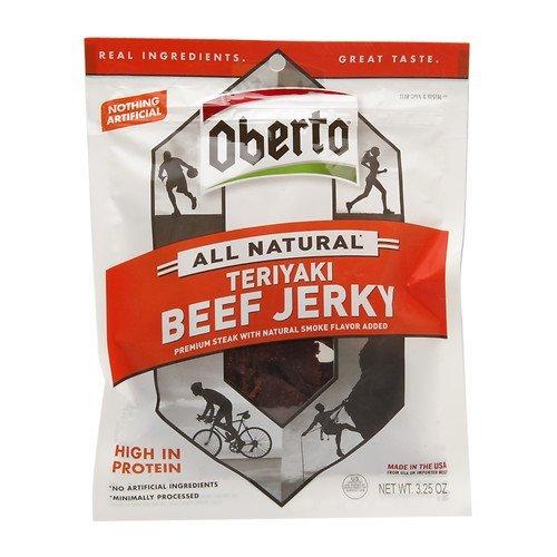 Oberto All Natural Beef Jerky, Teriyaki 3.25 oz (92.13 g)
