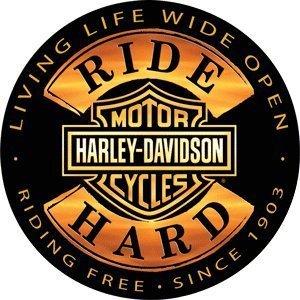 Harley-Davidson® 35,56 cm redondo - señal de carcasa rígida ...