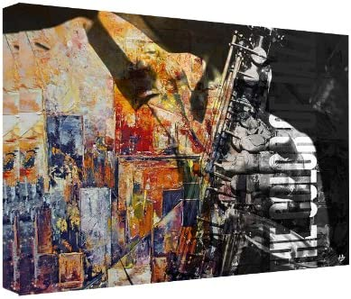 Ready2HangArt Color of Jazz II Oversized Abstract Modern Contemporary Canvas Wall Art Print