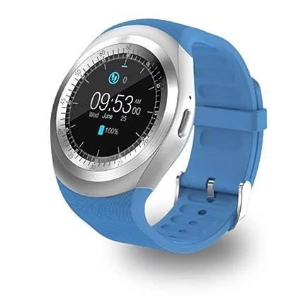Amazon.com: NOKKOO Y1 Reloj inteligente de banda táctil para ...