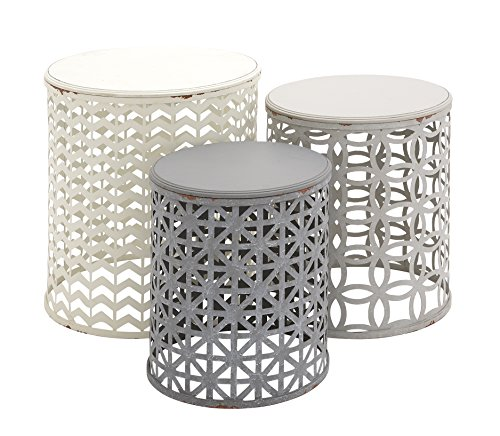 Cheap  Deco 79 Metal Wood Accent Table, 22 by 19 by 17-Inch, Set..