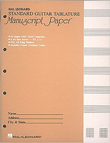Amazon.com: Guitar Tablature Manuscript Paper - Standard ...