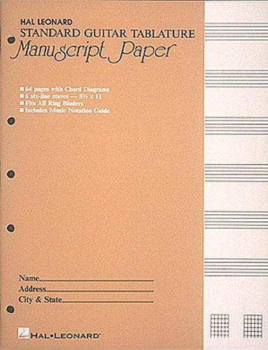 Guitar Tablature Manuscript Paper - Standard (Guitar Blank Sheet Music compare prices)