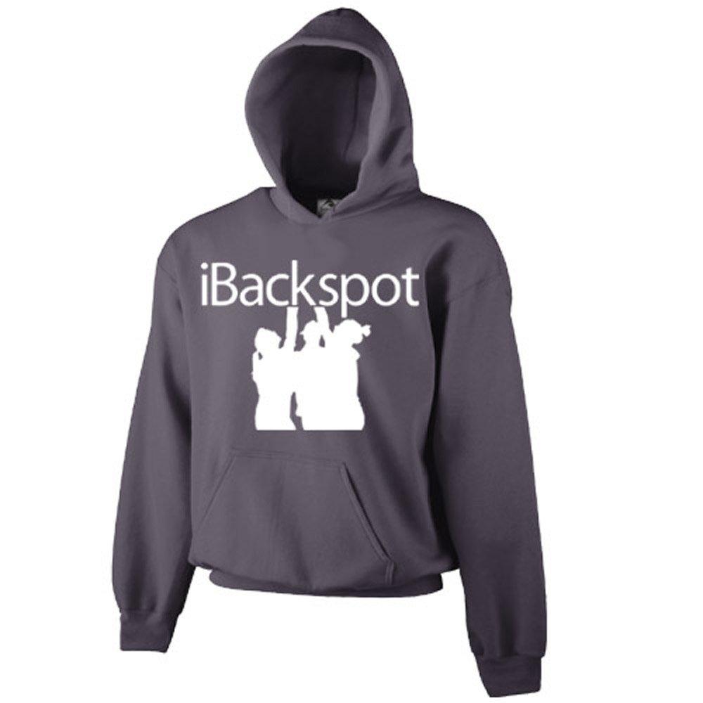 Chosen Bows Gray iBackspot Hoodie- White Print