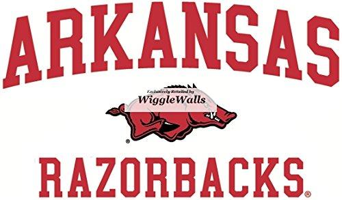 5 Inch Razorbacks University of Arkansas Uark Hogs AR Hog Logo Removable Wall Decal Sticker Art NCAA Home Room Decor 5 by 3 Inches