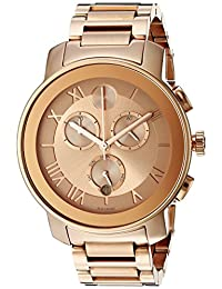 Movado Bold Chronograph Rose Dial Rose Gold Ion-plated Ladies Watch 3600210