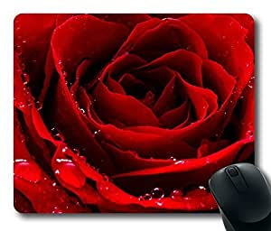 Design Mouse Pad Desktop Laptop Mousepads Red Love Rose Comfortable Office Mouse Pad Mat Cute Gaming Mouse Pad