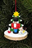Tree ornaments Tree ornament Nutcracker on tree disc - 5,1 x 5,1cm / 2.0 x 2.0inch - Christian Ulbricht