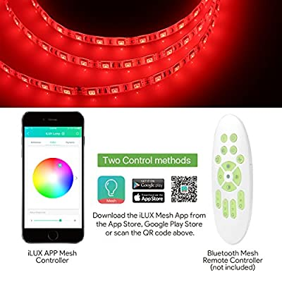 LE 16.4ft Flexible LED Light Strip, 300 LED,12V DC LED Tape, LED Ribbon, DIY Indoor Party Christmas Holiday Home Kitchen Car Bar Decoration