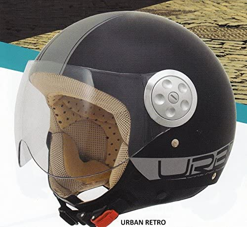Amazon.es: Casco jet XXL – 045 – 518 – Casco Urban Retro Negro Mate 63 – 64