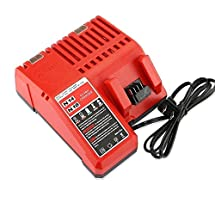Flylinktech Replacement Battery Charger for Milwaukee 18V 48-11-1850,48-11-1840,48-11-1815,48-11-1828 (Charger Only)
