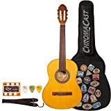 Rise by Sawtooth ST-RISE-CL-3/4-N-KIT-1 Beginner'S Classical Guitar, 3/4 Size, Satin Gold Stain