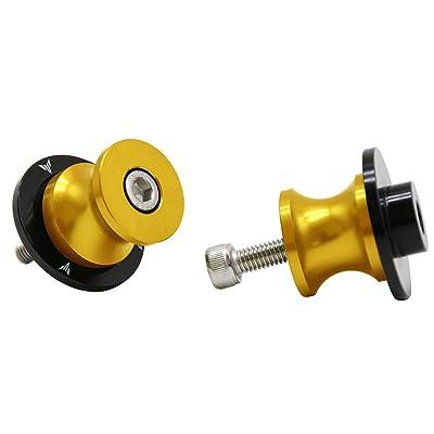 2pcs 6MM M6 X1.5 Motorcycle Swing arm Sliders Spools CNC Swing Arm Stand Screw for Yamaha FZ-01 FZ-03 FZ-125 FZ-09 FZ-10 (Gold): Automotive [5Bkhe1500234]