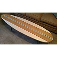 Surfboard Coffee Table with 16 Hair Pin Legs and Fins