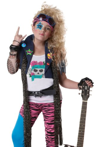 California Costumes Kids Girls 80s Glam Rock Pop Star Singer Halloween Costume Medium