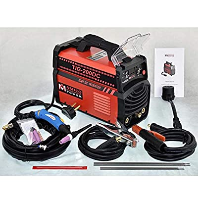 Welder TIG-200DC, 200 Amp TIG Torch Stick ARC DC Welder, 110/230V Dual Voltage Welding