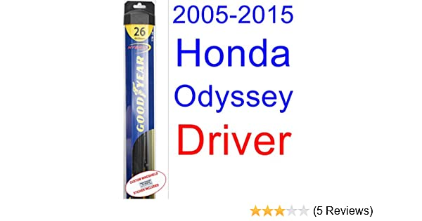 Amazon.com: 2005-2015 Honda Odyssey Wiper Blade (Driver) (Goodyear Wiper Blades-Hybrid) (2006,2007,2008,2009,2010,2011,2012,2013,2014): Automotive