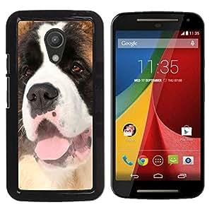 Jordan Colourful Shop - Bernadine Puppy Dog Tongue For Motorola G 2ND GEN II Personalizado negro cubierta de la caja de pl????stico