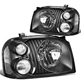 Nissan Pick Up Fog Light Components - DNA Motoring Black clear HL-OH-074-BK-CL1 Pair of Headlight Assembly [01-04 Nissan Frontier]