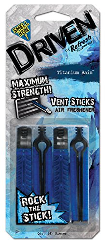Driven by Refresh Your Car! 73103 Vent Stick, 4 Per Pack, Titanium Rain