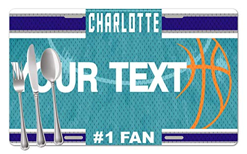 BRGiftShop Personalized Custom Name Basketball Team Charlotte Set of 4 Table Placemats - Linens North Carolina University