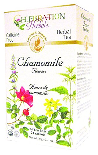Celebration Herbals Chamomile Flowers, Herbal Tea Bags, 24 Count by Celebration Herbals