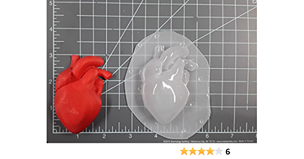 Jack Heart Flexible Plastic Resin Mold ~ 1 pc