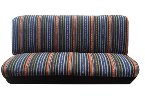 Baja Blue Saddle Blanket Bench Seat Cover Standard Fit Colorful Stripes For Subaru Impreza (Seat Standard Bench)