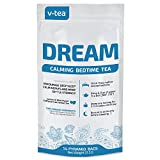 v tea Dream Calming Bedtime Tea | Sleepy Time - Calm Nerves - Settles Stomach | 100 % Organic - Caffeine Free - 14 Sachets