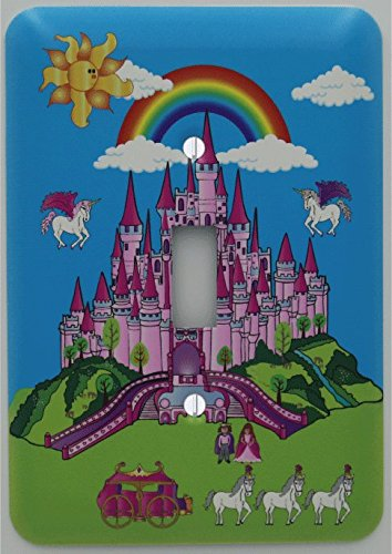 Pink Castle Light Switch Plate Covers / Single Toggle / Castle Wall Decor by Presto Light Switch Plate Covers