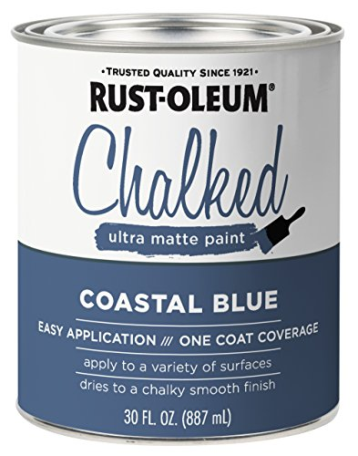 Rust-Oleum 329207 Chalked Ultra Matte Paint, 30 Oz, Coastal Blue