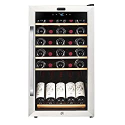 Whynter Fwc-341ts 34 Bottle Freestanding Wine Refrigerator With Display Shelf & Digital Control, Stainless Steel