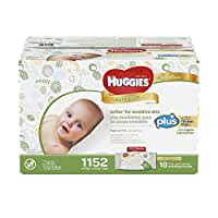 Huggies Natural Care Plus Baby Wipes 1,152 ct - Hypoallergenic with Aloe & Vitamin E - Fragrance-Free & Alcohol-Free